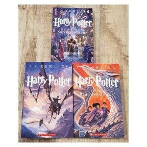 Lot of 3 Harry Potter Special Edition Books 1 5 7
